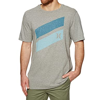26a0090d35e Hurley Icon Slash Push Through Short Sleeve T-Shirt Small Dark Grey Heather