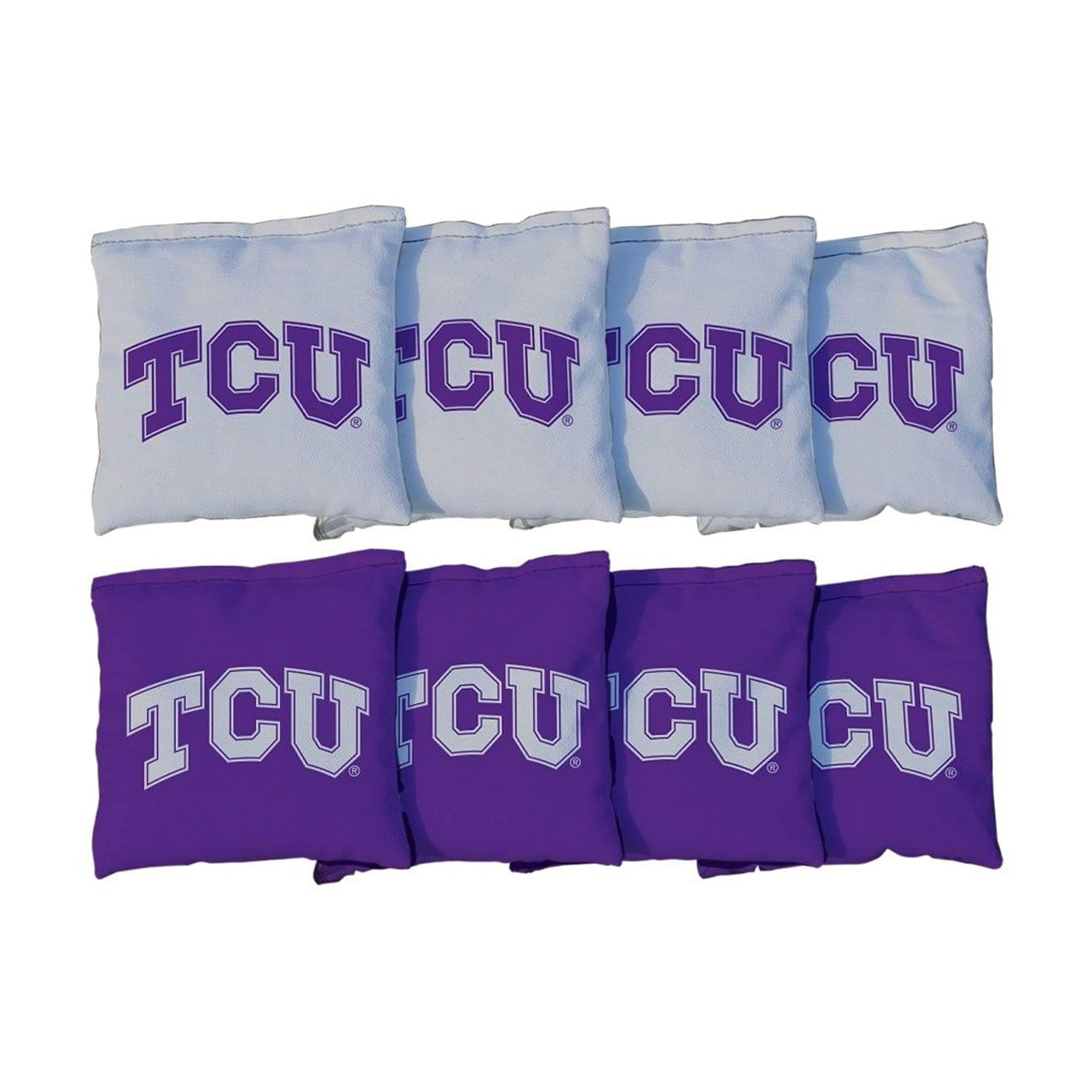 Victory Tailgate NCAA Regulation Cornhole Game Bag Set (8 Bags Included, Corn-Filled) - Texas Christian University Horned Frogs by Victory Tailgate (Image #1)