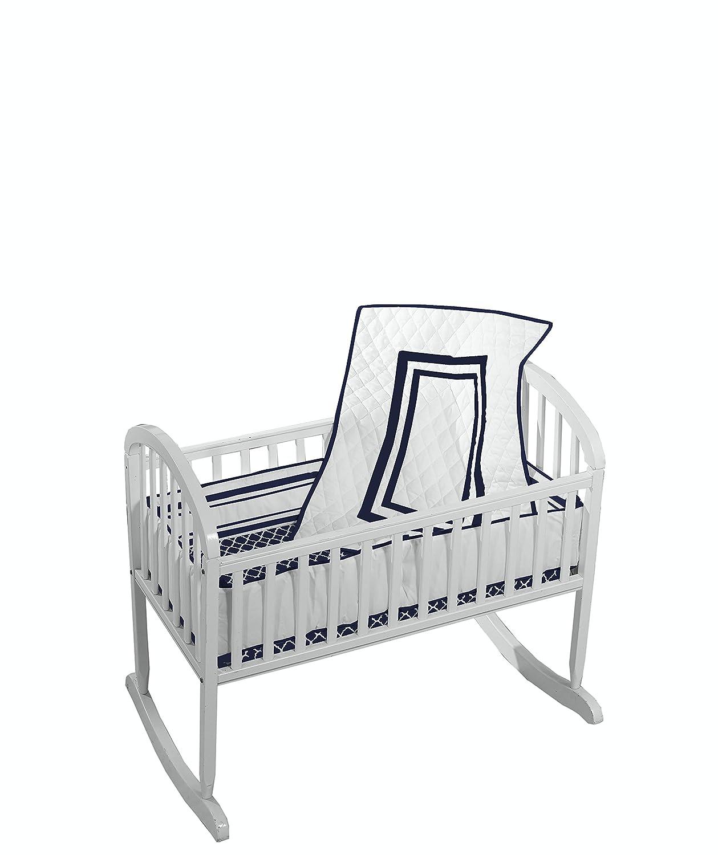Baby Doll Bedding Soho Cradle Bedding Set with 100% cotton trellis design sheet, Blue 1350cr36-aqua
