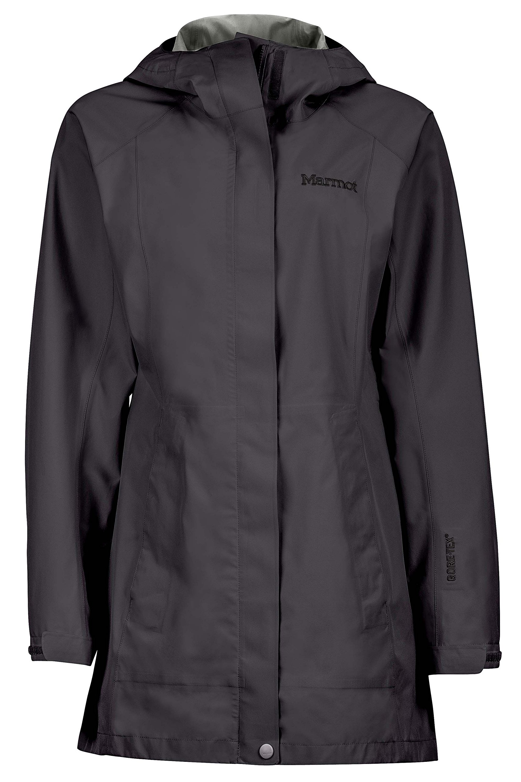 Marmot Women's Essential Lightweight Waterproof Rain Jacket, GORE-TEX with PACLITE Technology, Jet Black, Large by Marmot