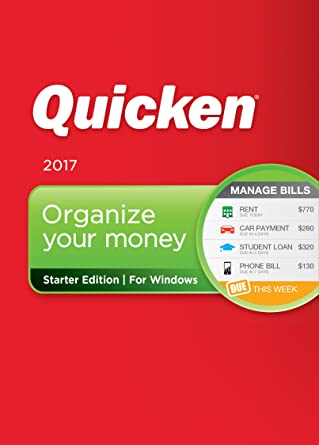 Amazon.com: Quicken Starter Edition 2017 Personal Finance ...