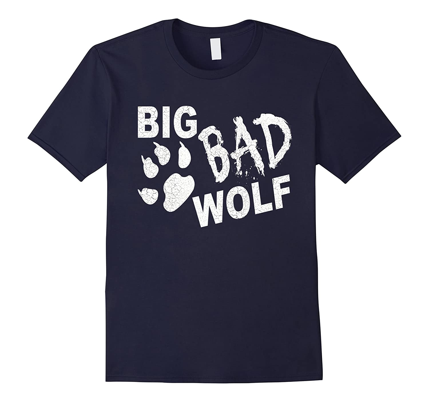 Big Bad Wolf Paw Distressed White Funny Novelty T Shirt-ANZ