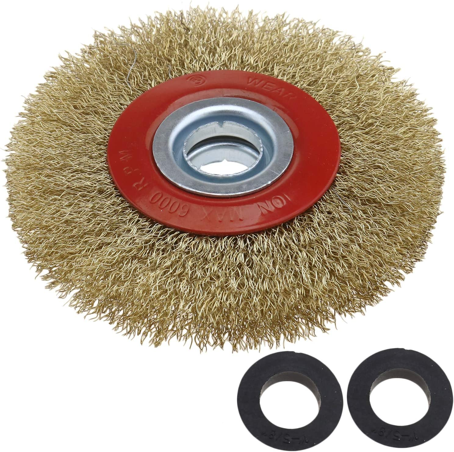 """5/"""" 125mm Crimped Stainless Steel Wire Wheel Brush for Bench Grinder Rust Removal"""