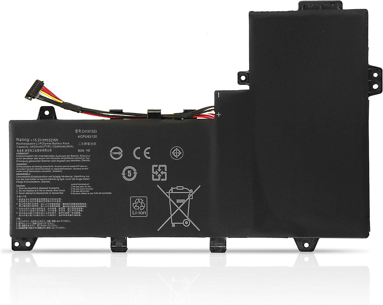 ZTHY New 52Wh C41N1533 Battery Replacement for Asus Q524U Q534U Q534UX Q534UX-BHI7T19 ZenBook Flip UX560UQ UX560UX Zenfone Flip UX560UX UX560UX-FJ020R Series 0B200-02010200 15.08V 3450mAh