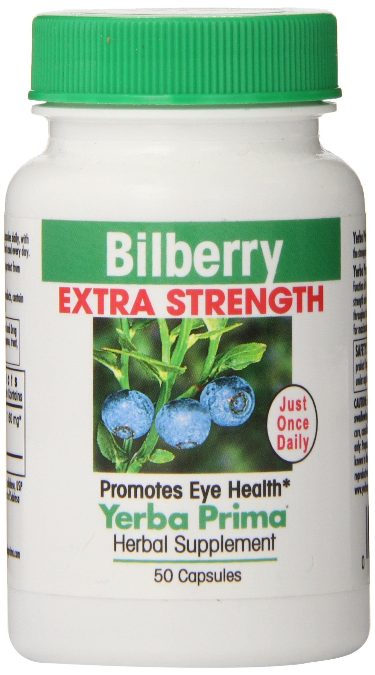 Yerba Prima Bilberry Extra Strength, 50-Count (Pack of 12)