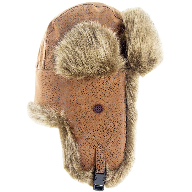 2d480cb03df Unisex Winter Hat Faux Fur Trapper Hat Cotton Wool Blend Warm Ushanka  Russian Hunting Hat Headshion  1540908015-119190  -  15.19