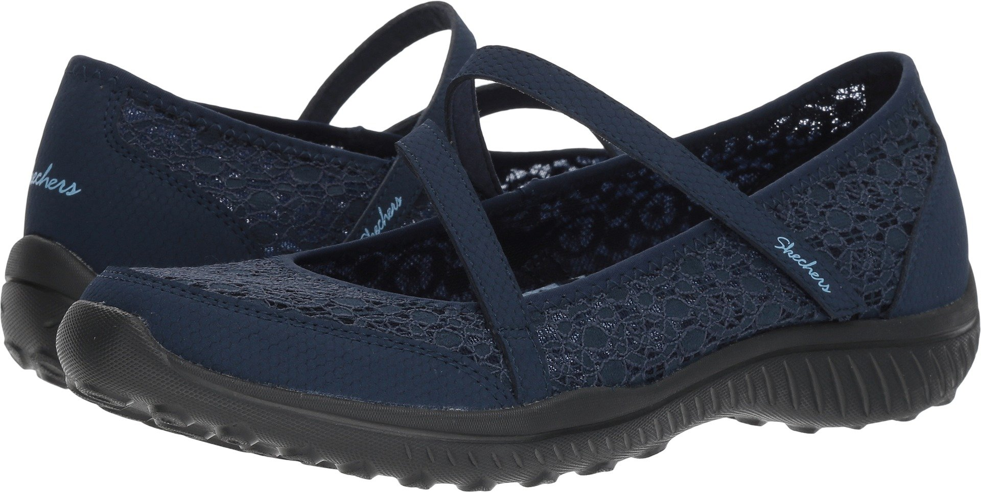 Skechers Be Light Florescent Womens Mary Jane Sneakers Navy 8.5 by Skechers