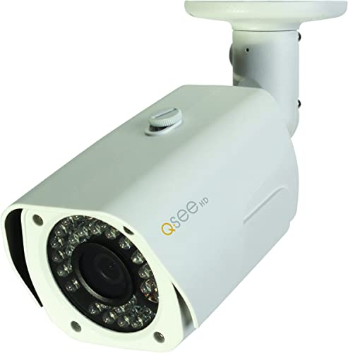 Q-See QCA7201B 720p High Definition Analog, Metal Housing, Bullet Security Camera White