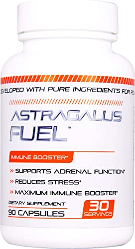 Astragalus Fuel – Immune Booster Effective and Powerful – 500mg per Capsule of Pure Astragalus – Supports Cardiovascular Health, Boosts Immune Function, Respiratory – 90 Capsules Manufactured USA