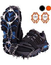 Molee Schuhspikes,Schuhkrallen mit 19 Zähnen,Steigeisen mit Edelstahlspikes für Bodenhaftung auf EIS und Schnee,Schneekette,Spikes,Schuh-Krallen für High Altitude Wandern EIS Schnee