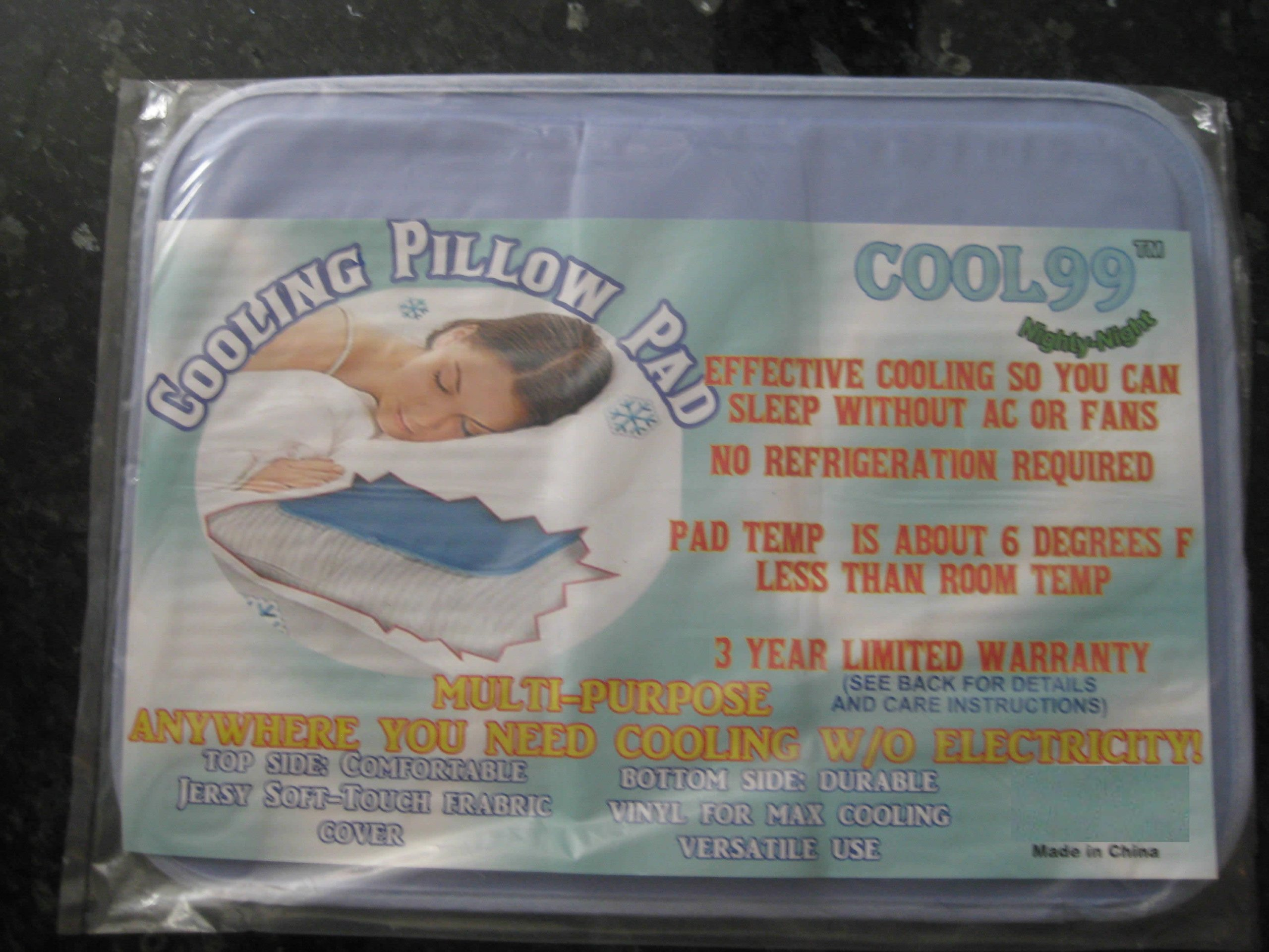 Cool99(TM) Cooling Pillow Pad