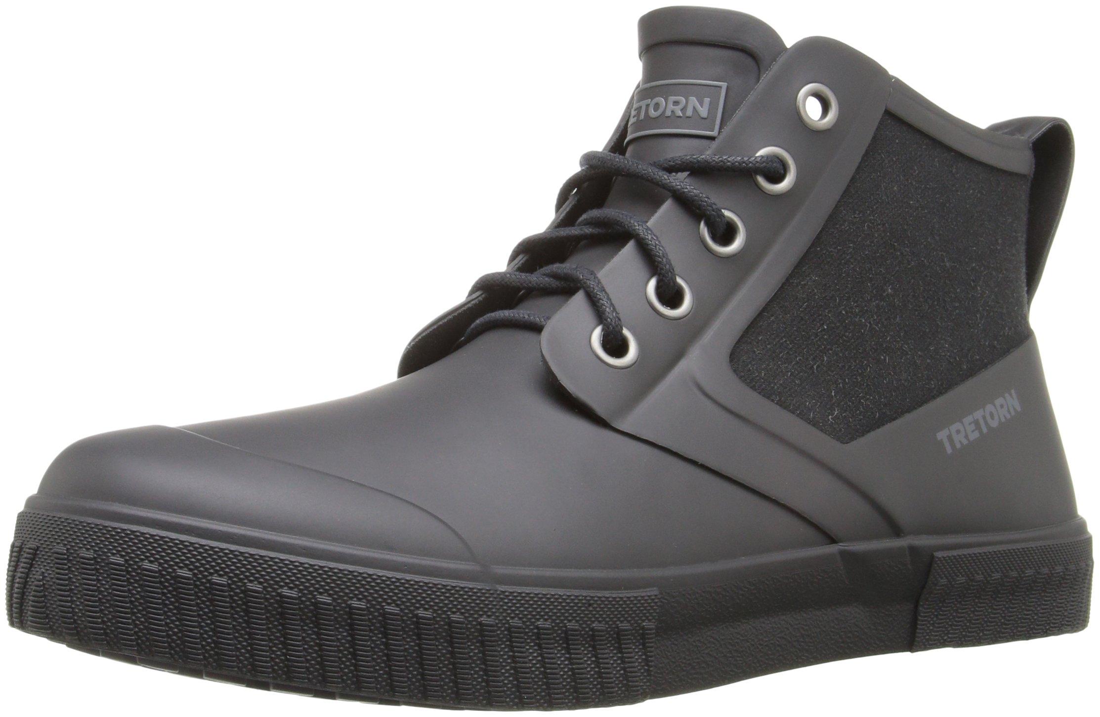Tretorn Men's Gill Rain Boot, Black/Black, 12 M US