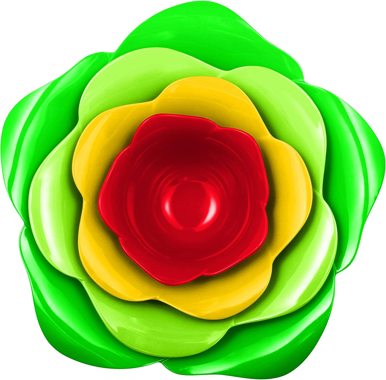 Zak Designs 2116-H590 Jardin Set de 4 Bols Emboitables Rose