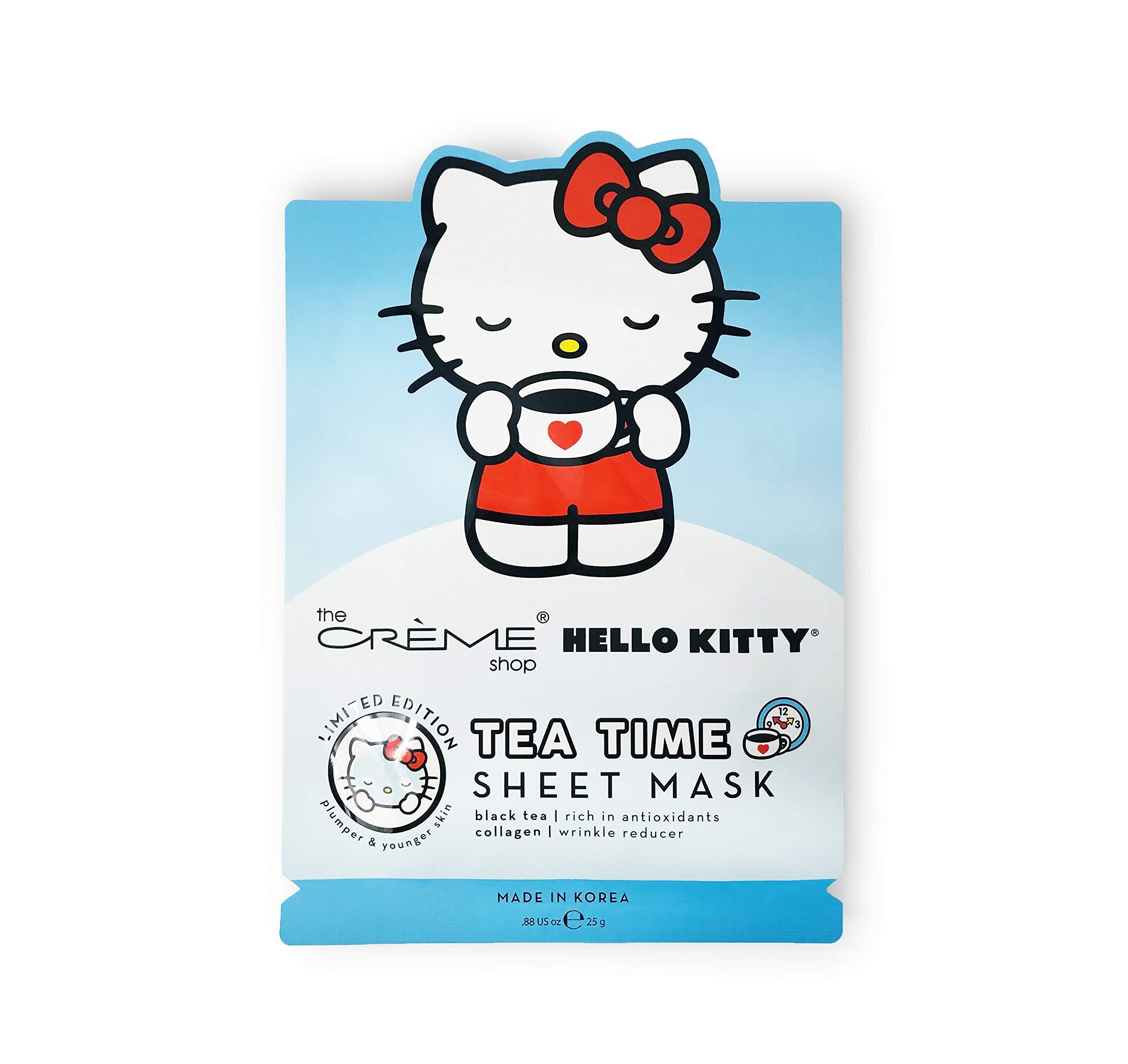 8e0af017b Amazon.com : The Crème Shop x Sanrio Sheet Mask (Hello Kitty Tea Time) :  Beauty