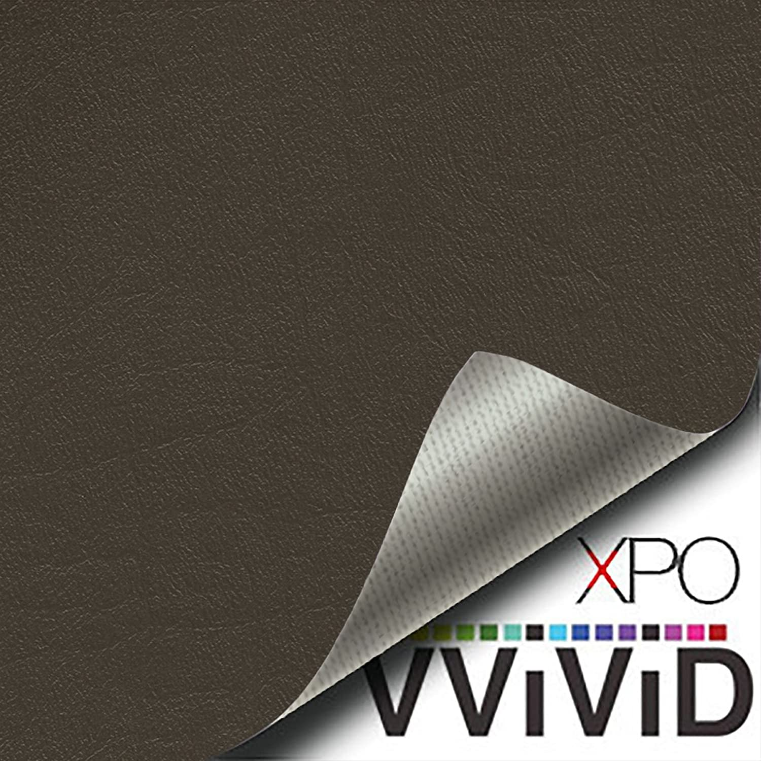 VViViD Brown Weatherproof Faux Leather Finish Marine Vinyl Fabric 25ft x 54 Inch