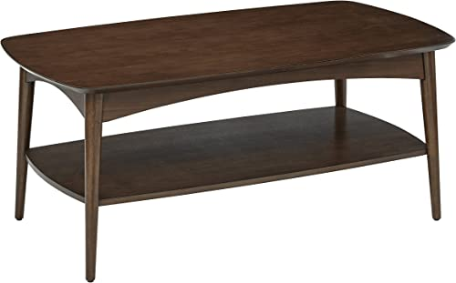 OSP Designs Copenhagen Coffee Table, Walnut