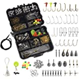 MadBite Freshwater 181 & 214pc Terminal Tackle Kits, Bass/Panfish/Trout Fishing Tackle Kits, Fishing Lures, Fishing Accessory