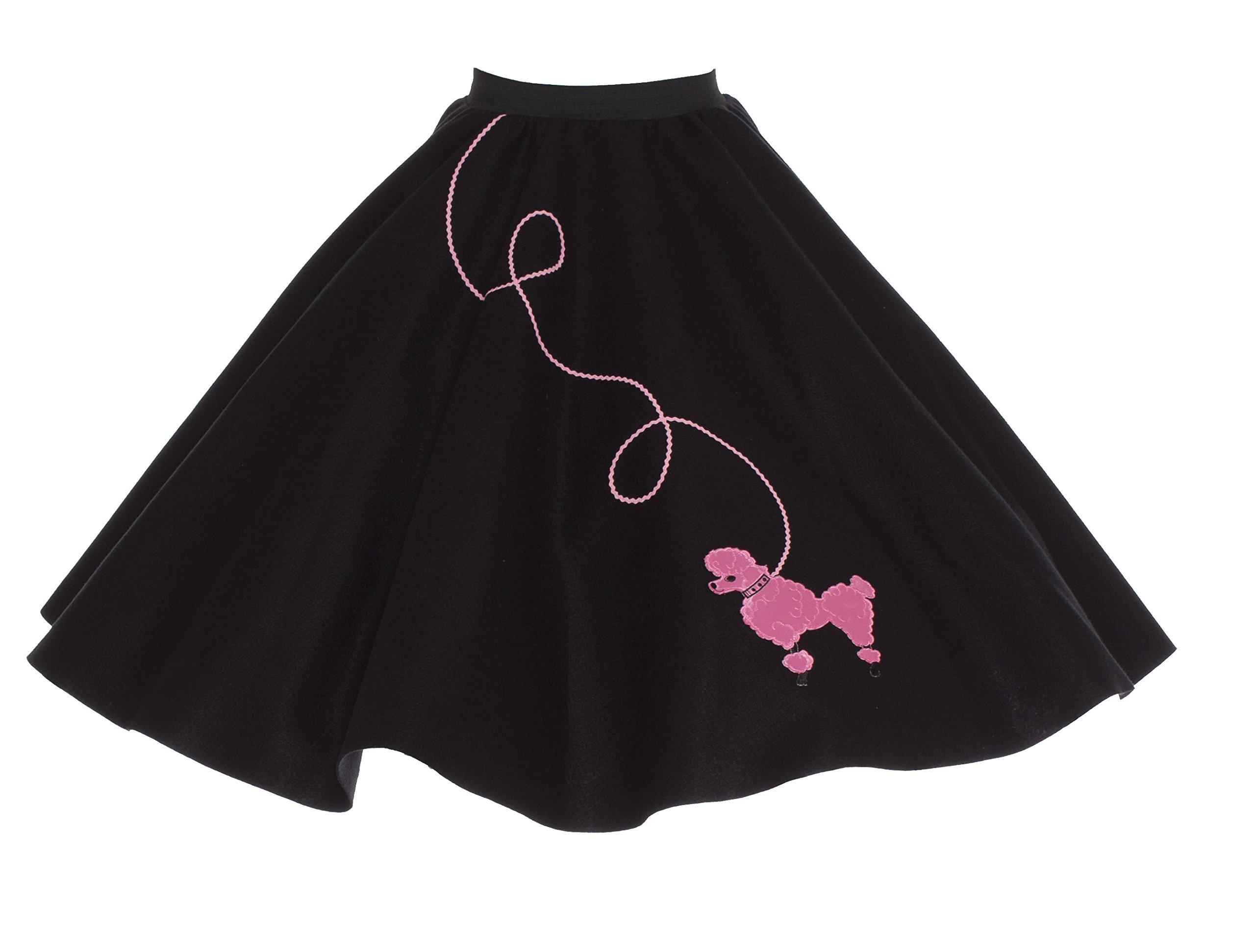 Hip Hop 50s Shop Adult 7 Piece Poodle Skirt Costume Set Black and Pink XLarge by Hip Hop 50s Shop (Image #6)