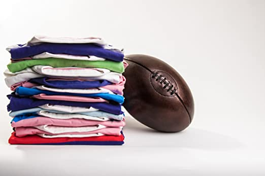 para Hombre Classic Camiseta de Rugby, de la Polinesia Francesa Azul/Rosa diseño de Rayas