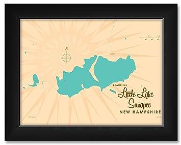 Amazon.com: Northwest Art Mall Little Lake Sunapee New Hampshire Map ...