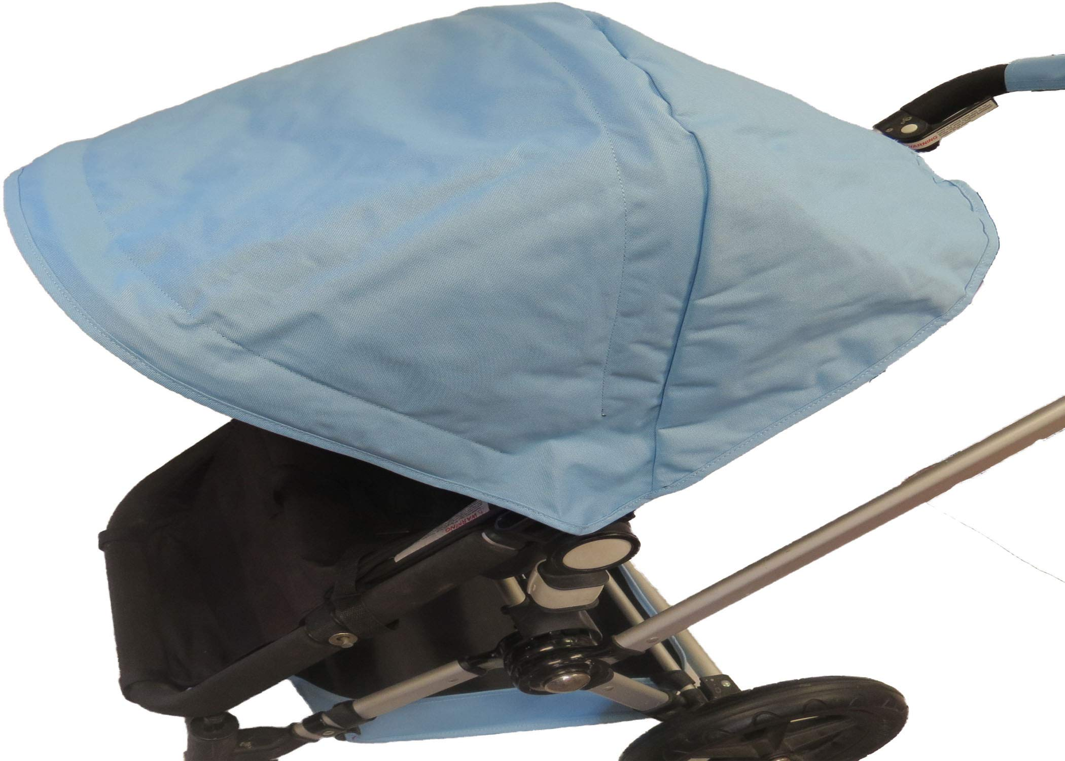 Light Blue Sun Shade Canopy with Wires and Under Seat Storage Basket Plus Free Handle Bar Covers for Bugaboo Cameleon 1, 2, 3, Frog Baby Child Strollers