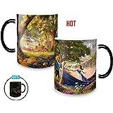 Morphing Mugs Thomas Kinkade Disney's Beauty and the Beast Picnic Painting Heat Reveal Ceramic Coffee Mug - 11 Ounces