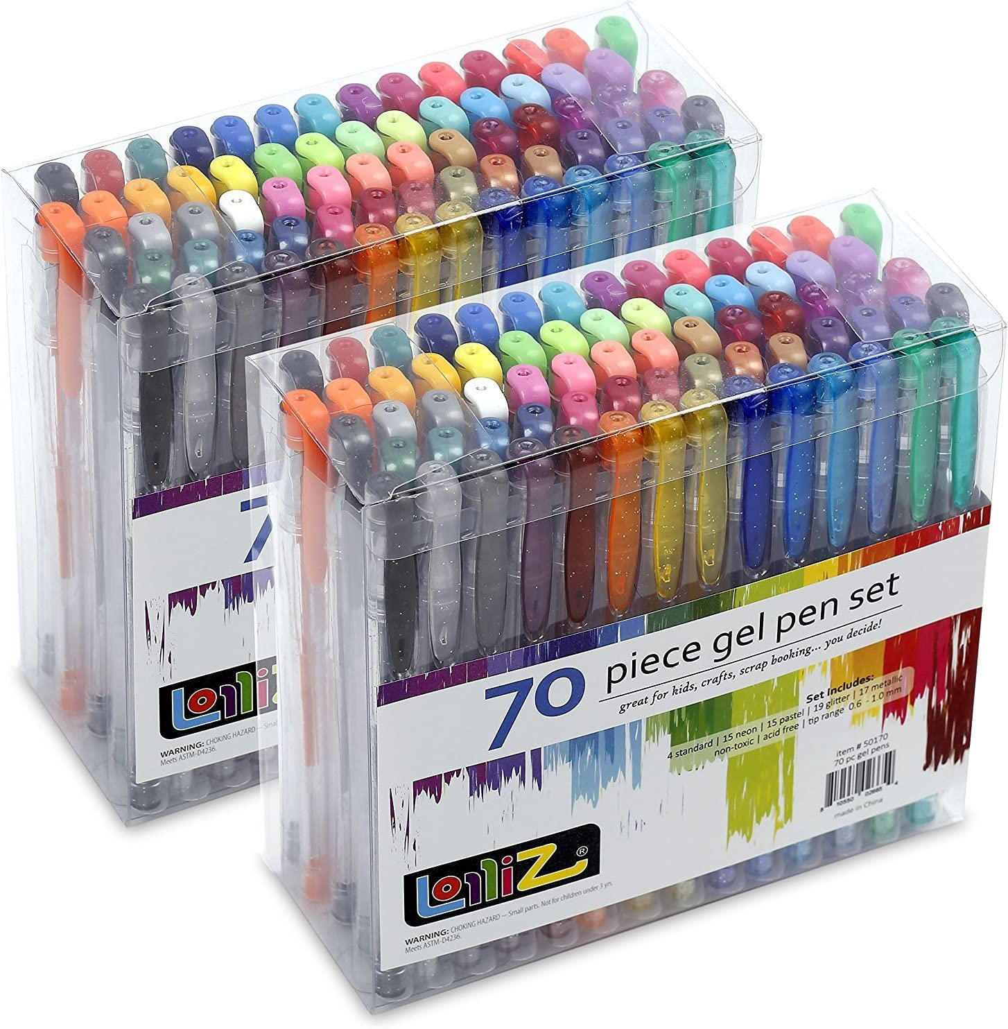 LolliZ Gel Pens 70 Pen Tray Set – Set de 2: Amazon.es: Hogar