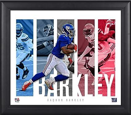 more photos 2f8b7 2f340 Amazon.com: Saquon Barkley New York Giants Framed 15