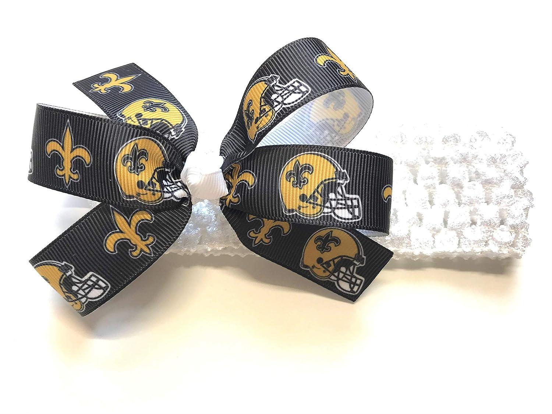 483e3d14 Amazon.com: Baby Girl New Orleans Saints Headband Newborn Girl NFL ...