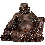 "Oriental Furniture 8"" Sitting Laughing Buddha Statue"