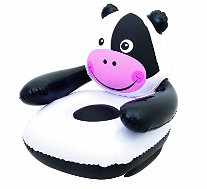Amazon.com: Up in & over Moo-Cow silla hinchable: Toys ...
