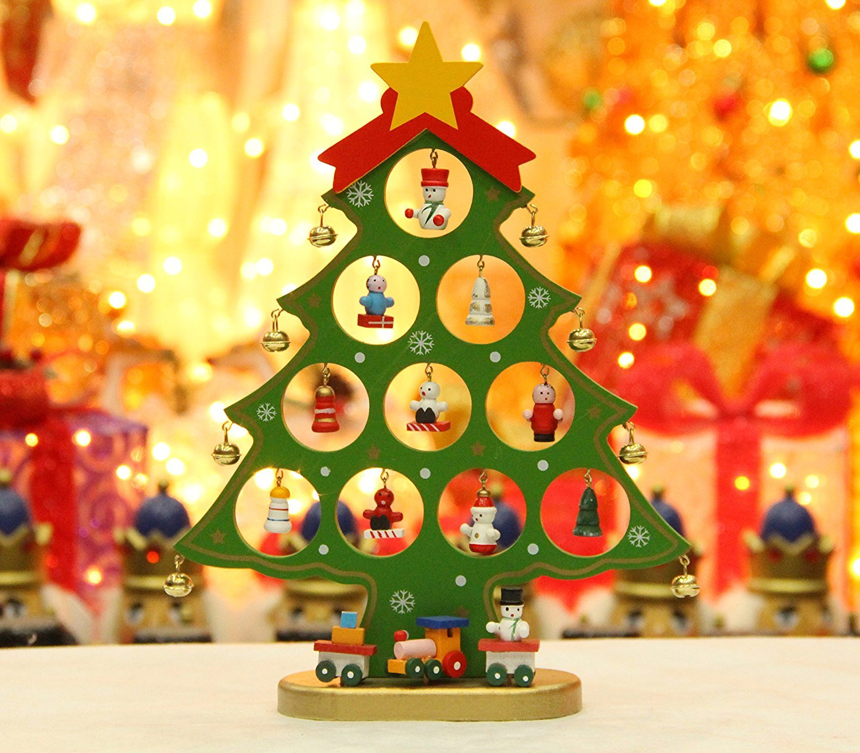 Colleer Wooden DIY Christmas Tree Decorations Detachable Xmas Tree