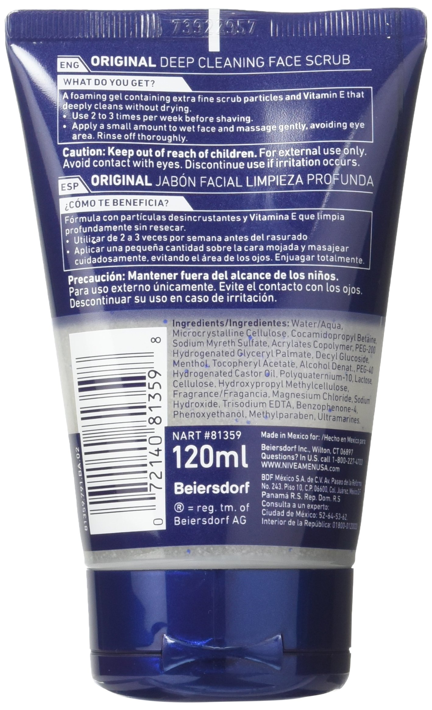 NIVEA Men Deep Cleaning Face Scrub 4.4 Ounce (Pack of 3) (Packaging May Vary) by Nivea Men (Image #6)