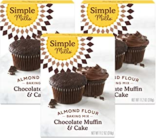 product image for Simple Mills Almond Flour Baking Mix, Gluten Free Chocolate Cake Mix, Muffin pan ready, Made with whole foods, 3 Count (Packaging May Vary)