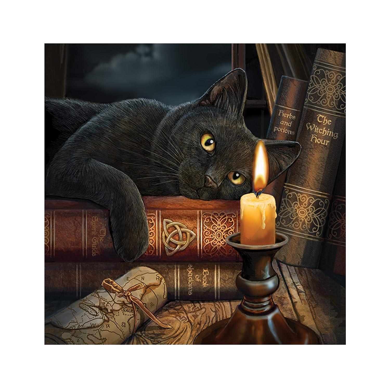 Nemesis Now Witching Hour Lisa Parker - Cojín (35 cm), Color marrón