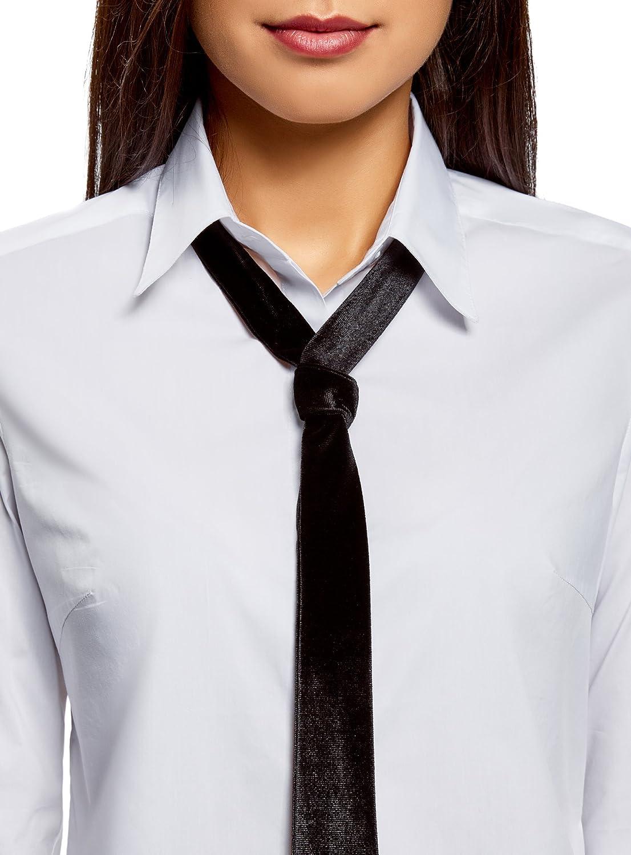 oodji Ultra Mujer Camisa con Puños Acampanados y Lazos Decorativos ...