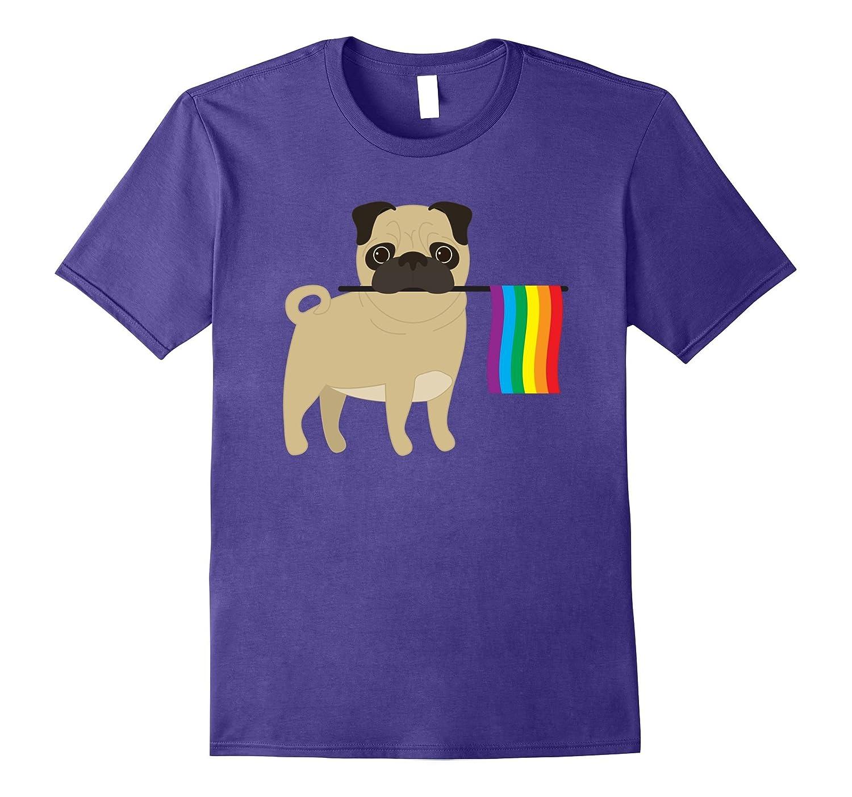 Gay Pride Flag Shirt - Pug Shirt-Vaci