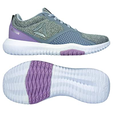 37eba5ae Reebok Flexagon Force, Chaussures Multisport Indoor Femme, Multicolore (Cold  Grey/Lilac Fog