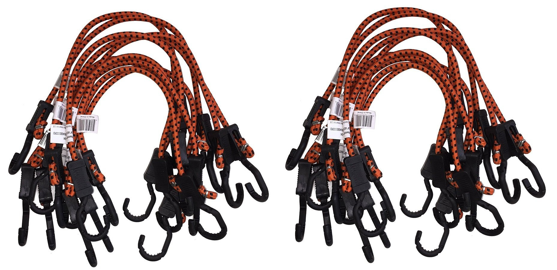 Kotap Adjustable 24-Inch Bungee Cords, 10-Piece, Item: MABC-24 (Pack of 2) by Kotap