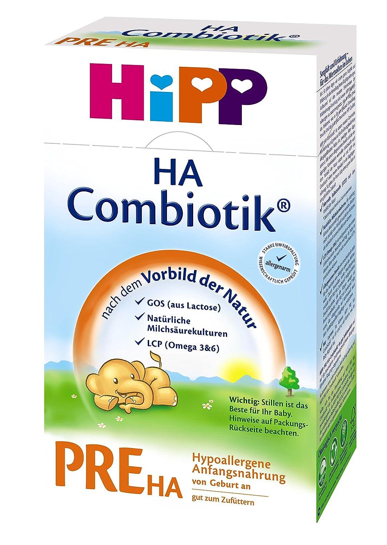 Hipp Pre HA Combiotik, hypoallergé nique pour nourrissons - de la naissance, 4-pack (4 x 500g) hypoallergénique pour nourrissons - de la naissance Hipp GmbH & Co. Vertrieb KG 408027