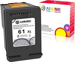 AIMINIE Remanufactured Ink Cartridge Replacement for HP 61XL 61 XL to Use with Envy 4500 4502 5530 DeskJet 2512 1512 2542 2540 2544 3000 3052a 1055 3051a 2548 OfficeJet 4630 Printer (Black, 1-Pack)