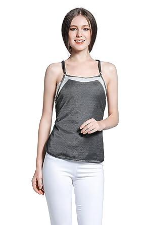 d192e85e9d1 JOYNCLEON Anti-Radiation Maternity Dresses Protective Shield Tank-Top Double -Layer Silver Fiber