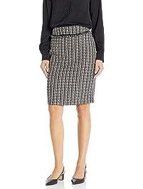 Calvin Klein Womens Women's Boucle Piped Skirt Suit-Skirt Set