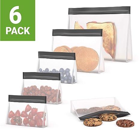 Amazon.com: Bolsas reutilizables prémium para sándwiches, 6 ...