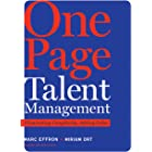 One Page Talent Management: Eliminating Complexity, Adding Value (English Edition)