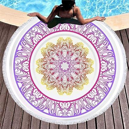 Amazon.com : WLEZY Beach Towel Printed Mandala Pattern ...