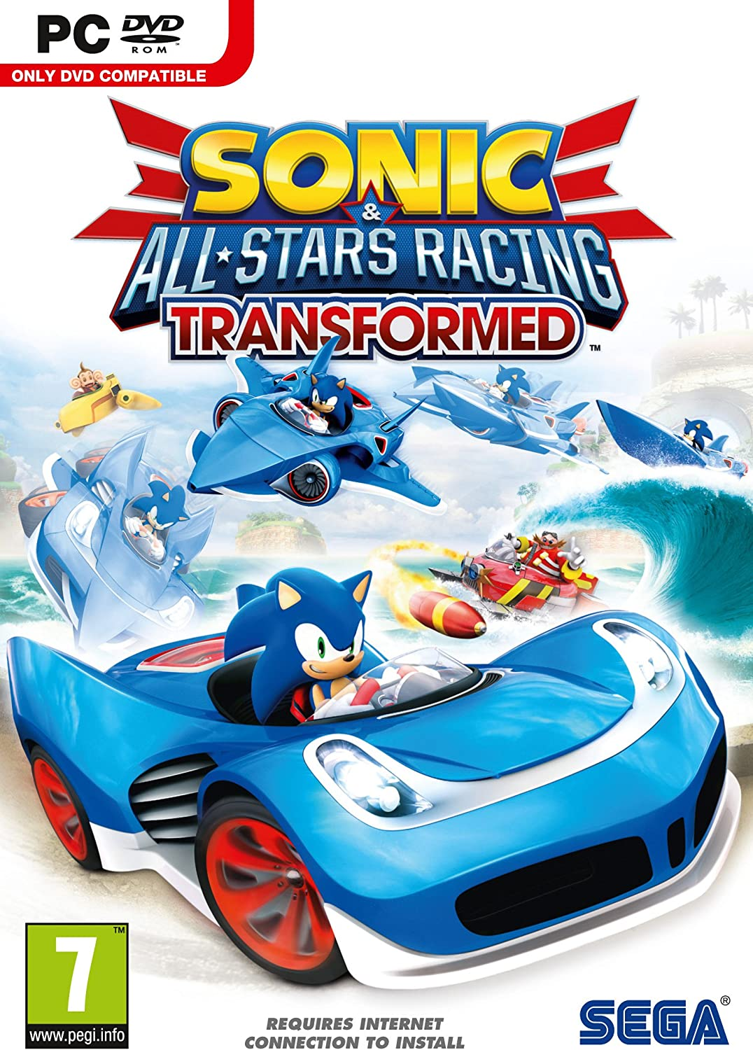 Amazon.com: Sonic & All-Stars Racing Transformed 4-Pack [Online Game ...