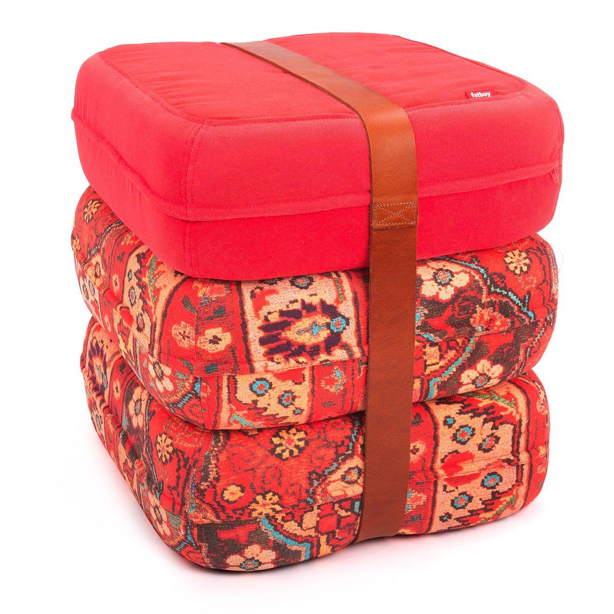 Fatboy 900.6325 Baboesjka Ali Baba ROT - 3er Set Sitzkissen mit Ledergurt in rot
