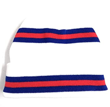 England Football Colours White Red   Blue Retro Stripe Beanie Hat - High  Quality Double Thermal Thickness Knit  Amazon.co.uk  Sports   Outdoors 42d19790c60