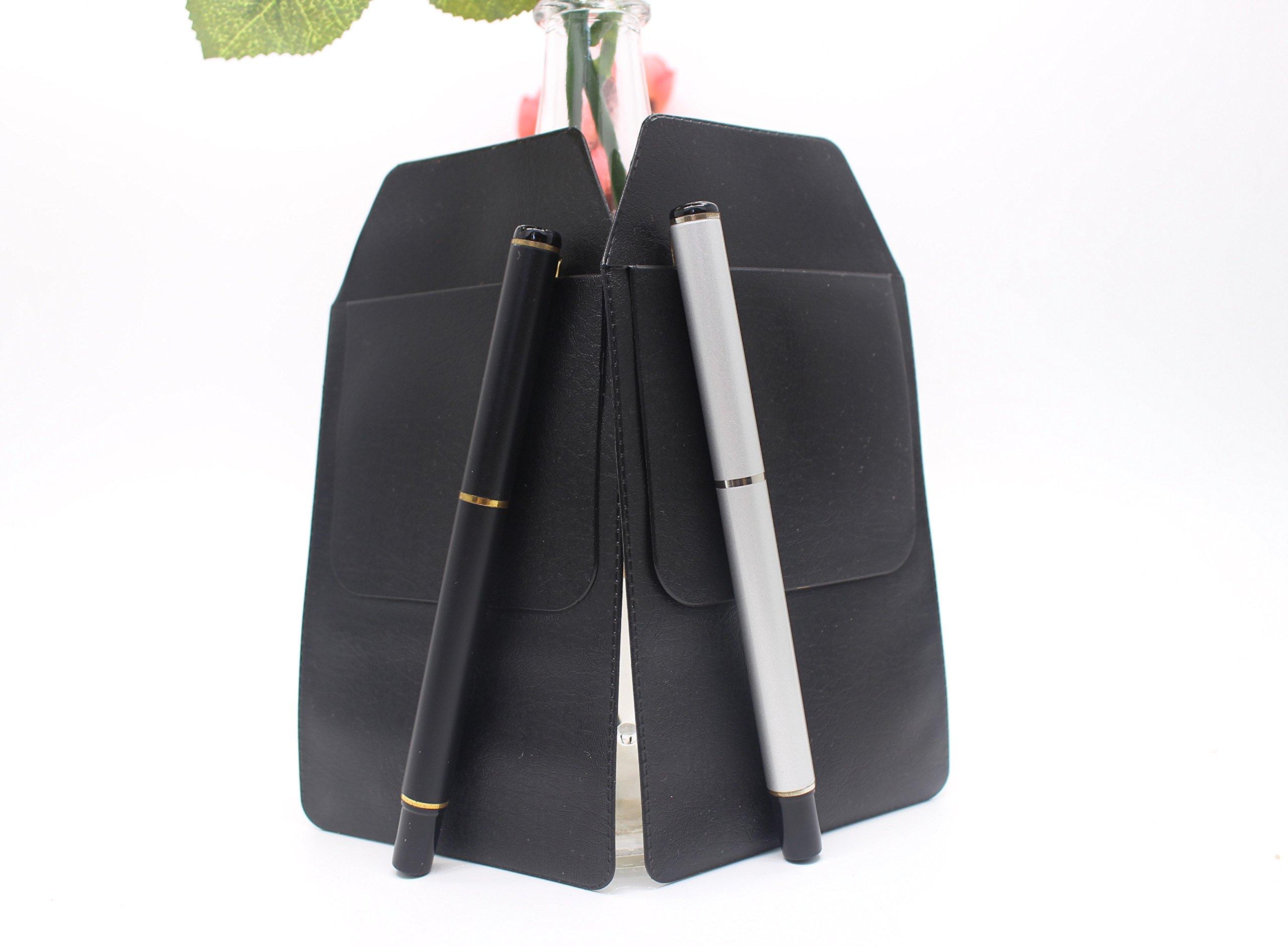 6 Pcs Black Vinyl Pocket Protector, for Pen Leaks,for School Hospital Office by Alago (Image #3)